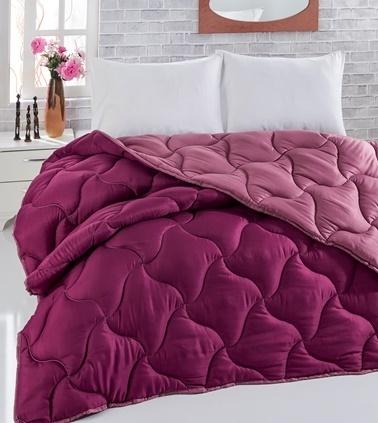 Komfort Home Renkli Çift Kişilik Microfiber Yorgan +2 Yastık Renkli